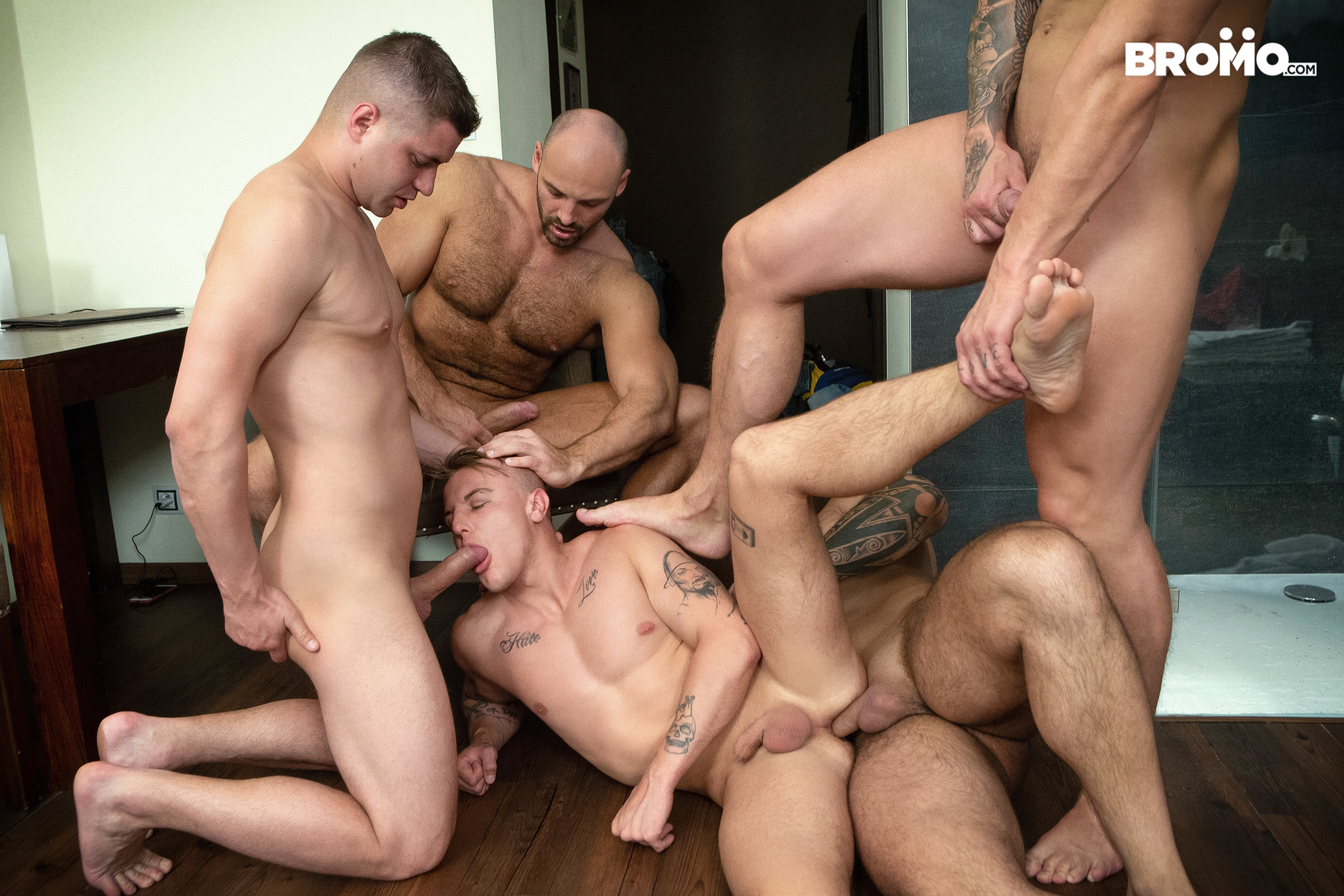 Gay hunk orgy porn